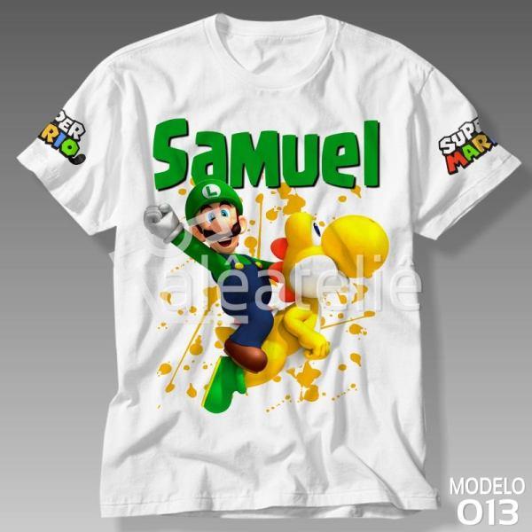 Camiseta Luigi Personalizada