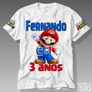 Camiseta Mario Bros Aniversario