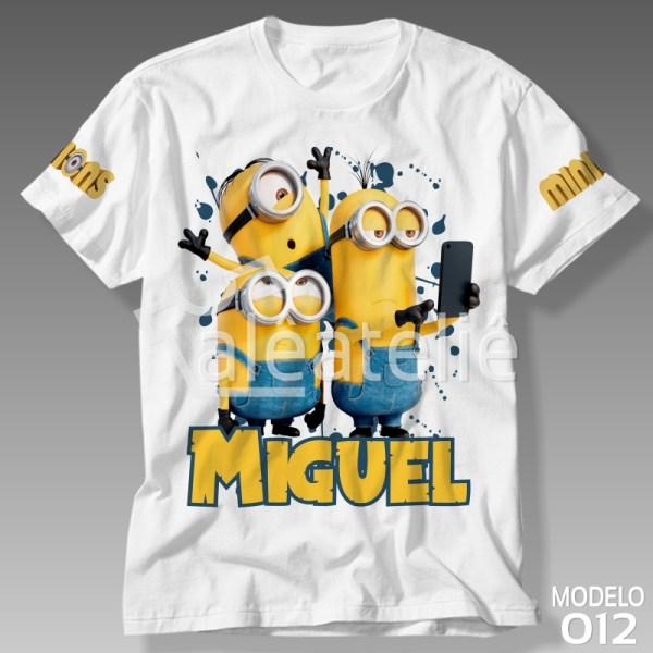Camiseta dos Minions Personalizada