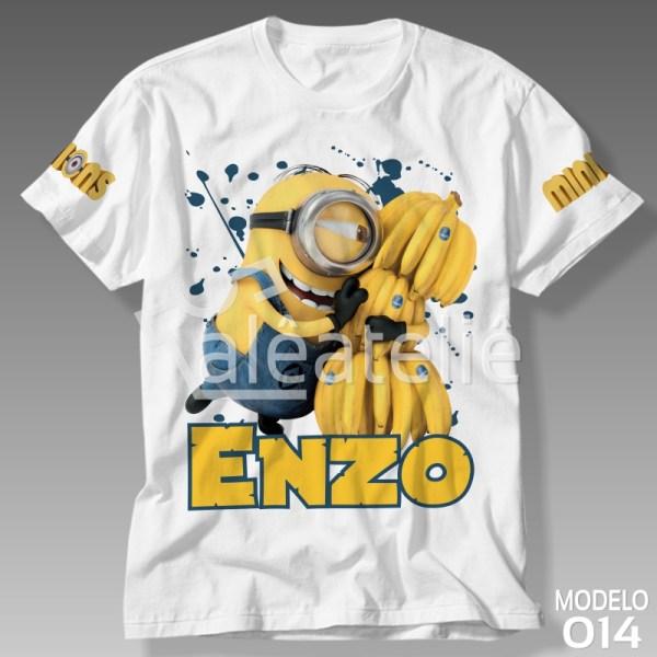Camiseta Tema Minions