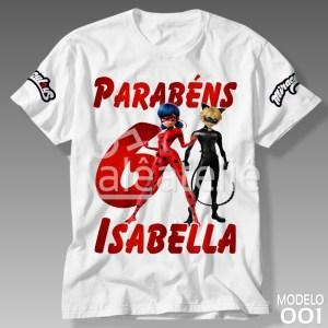 Camiseta Miraculous Personalizada