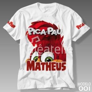 Camiseta Pica Pau Personalizada