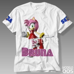 Camiseta Sonic Amy Rose
