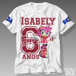 Camiseta Amy Rose Aniversário