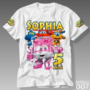 Camisetas Personalizadas Super Wings