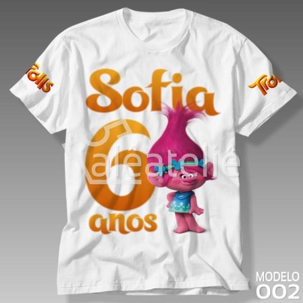 Camiseta Trolls Poppy