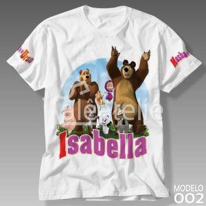 Camiseta Masha e Urso 002