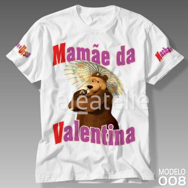 Camiseta Masha Urso Mamae