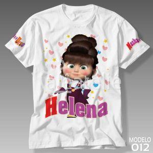 Camiseta Masha Urso Desenho