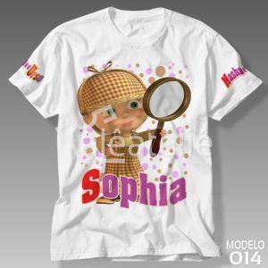 Camiseta Masha e Urso 014