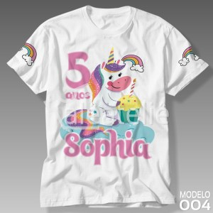Camiseta Unicórnio Aniversário