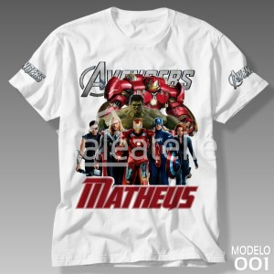 Camiseta Vingadores 001