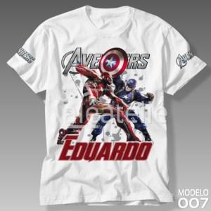 Camiseta Vingadores 007