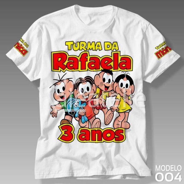Camiseta Turma da Monica Personalizada