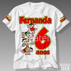 Camiseta Festa Turma da Monica
