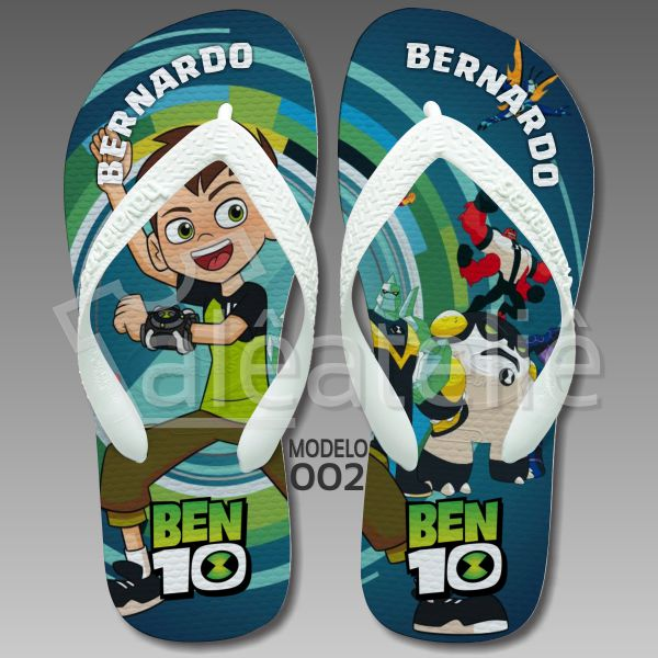 Chinelo Ben 10 Alien Rush