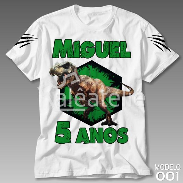 Camiseta Dinossauro Personalizada