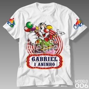 Camiseta Circo Palhaço