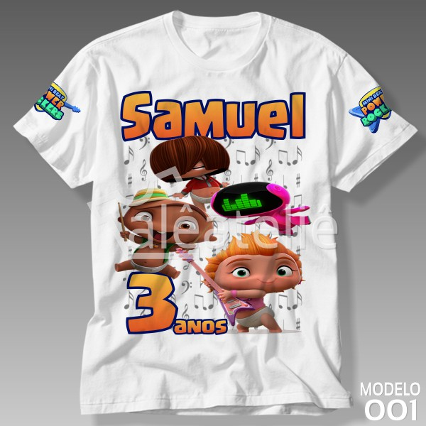 Camiseta Mini Beat Power Rockers