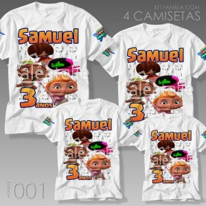 Kit 4 Camisetas Mini Beat Power Rockers 001