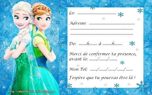 cartes invitations reine des neiges 10