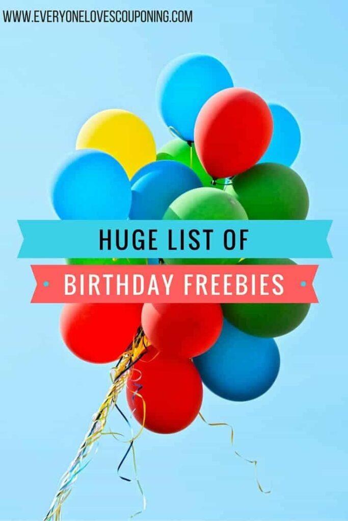 Alea's Deals HUGE List Of Birthday Freebies!!