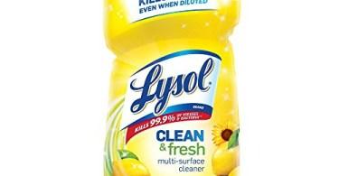 Alea's Deals Lysol Clean & Fresh Multi-Surface Cleaner, Lemon & Sunflower, 40oz Up to 38% Off! Was $3.99 ($0.10 / Fl Oz)!