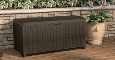 Alea's Deals Java Wicker Outdoor 99 Gallon Resin Deck Box only $107.66 shipped (Reg. $296!)