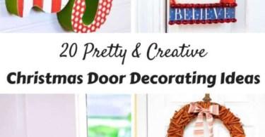 Alea's Deals 20 Pretty & Creative Christmas Door Decorating Ideas!