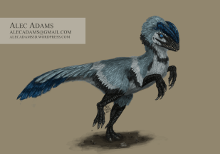 An illustration of Dilophosaurus.