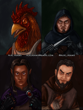 Character art for the youtube series Instant Roleplay Live.