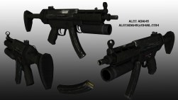 My version of the Half-Life MP5w/grenade launcher.