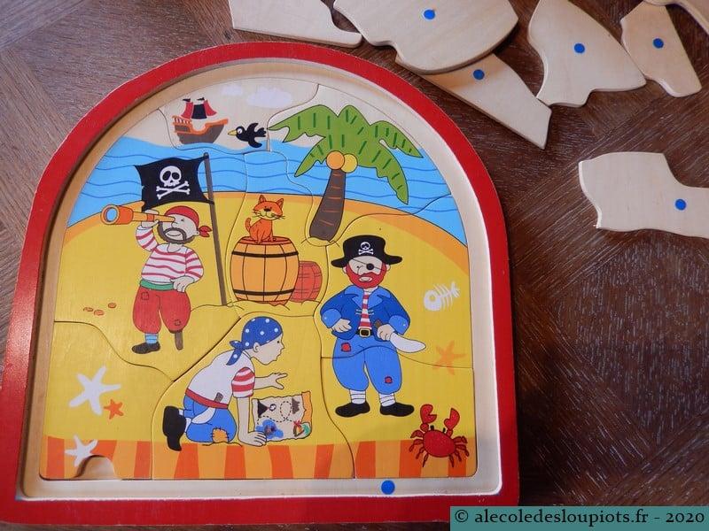 Puzzle pirates 8 pièces