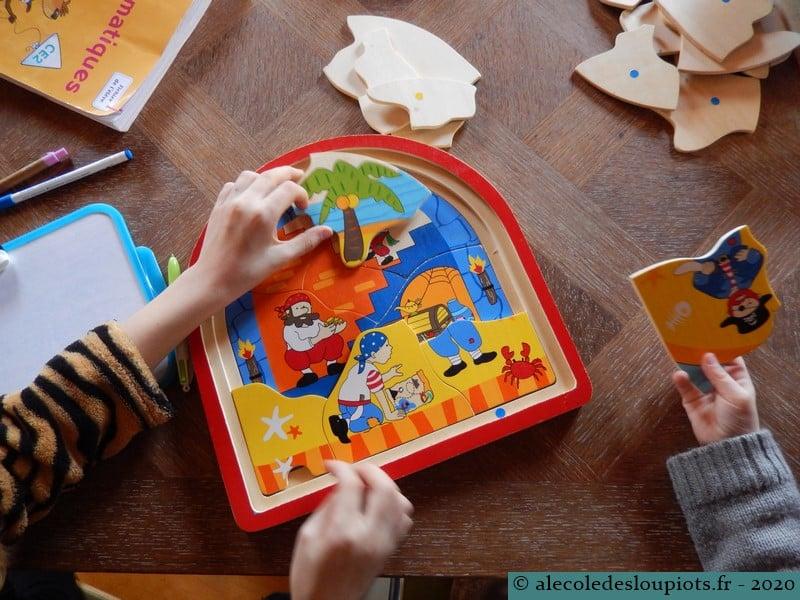 Puzzle pirates en famille
