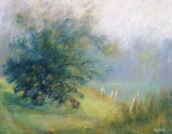 "Path and Apple Tree 18"" x 24"""