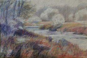 """Grand River Winter 24"""" x 36"""""""