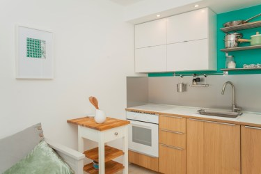 Kitchen in the basement apartment