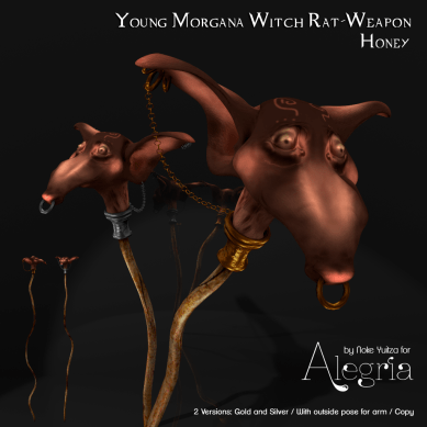 Young Morgana Witch Rat-Weapon Honey