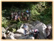 ABS-CBN TV crew took pictures in some parts of Lumondo Falls