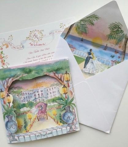 watercolor-wedding-invitation-Grand-Hotel-du-Cap-Ferrat