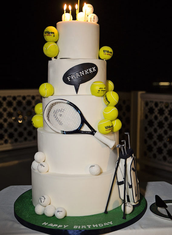 Awesome Tennis Golf Themed Birthday Cake Alejandra Poupel Events Funny Birthday Cards Online Aeocydamsfinfo