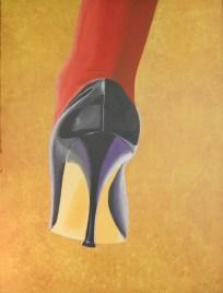 Dama de rojo - 120x90 - 1995