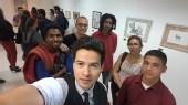 Alejandro y amigos en Exposición de Ascun en el Colegio Mayor de Antioquia