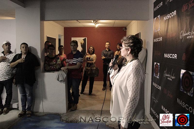 Luz M. Duque en el acto de inauguración de Nascor