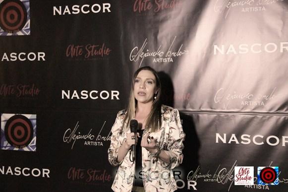 Isabel Cadavid en el acto de inauguración de Nascor