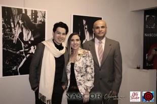De Izquierda a derecha, Alejandro Londoño, Isabel Cadavid y su esposo