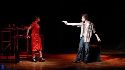 Sara Ramírez y Pablo Balbin Foto cortesía corporación Ateneo Porfirio Barba Jacob