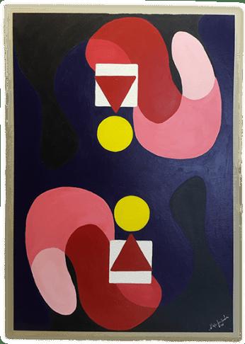 Título: Indicios 4 de 4 Serie: Indicios Técnica: Acrílico sobre cartón Medidas: 50x70cm Artista: Alejandro Londoño Año: 2016