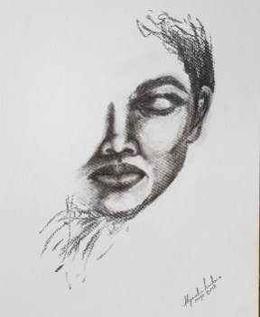Título: Esencia 11 Serie: Esencia Técnica: Carboncillo Artista: Alejandro Londoño