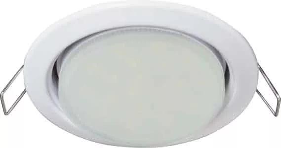 Ecola GX53 (Таблетка) Белый + лампа 8 Ватт Image